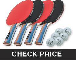 Killerspin JET SET 4 Ping Pong Paddle Set For beginners