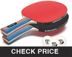Killerspin JET Set 2 Table Tennis Paddles And Ping Pong Balls For Beginners
